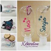 Botes para Gel con nombre personalizado, colores y dibujos a elegir. Capacidad 50ml.  www.kekositas.com #botesdegel #bichito #anticovid #kitcovid #productopersonalizado #detalles #eventos #comuniones #calidad #handmade #hechoamano